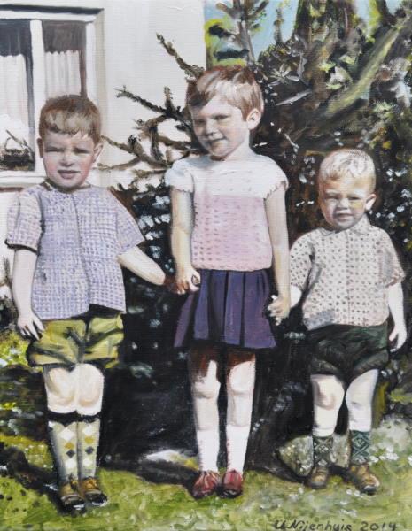 Geschwister 1966, Gemälde