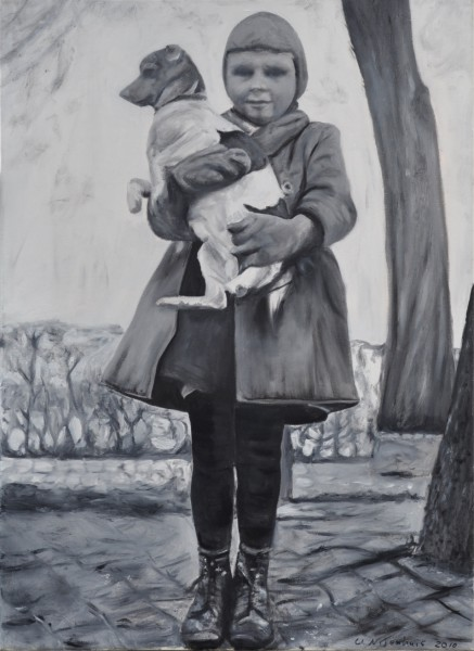 Jacob mit Hund 1944, Gemälde