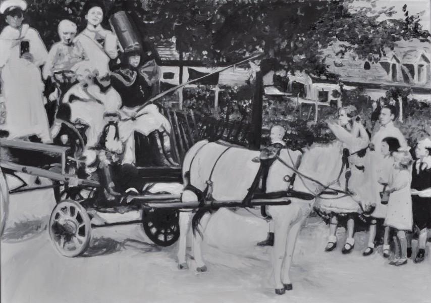 Kinderschützenfest Kaiserau 1936, Gemälde